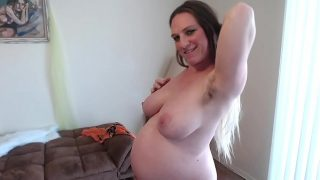 Hairy Ginger Pussy Squats Squirts Sucks Pussy Juices 35 Weeks Pregnant Different Angles of Big Belly
