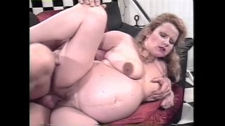horny pregnant babe getting a nice anal fuck