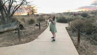 Pregnant woman has a fun day with her daddy